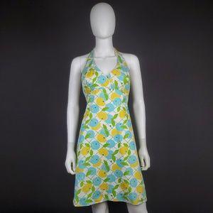 VTG Lilly Pulitzer 2 Blueberry Lemon Halter Dress